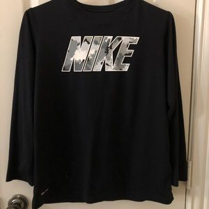 Nike Boys Long Sleeve Dri Fit Shirt